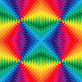 Seamless Colorful Wavy Lines Intersect in the Center. The Visual Illusion Of Movement