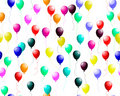 Seamless colourful balloons with glare Royalty Free Stock Photo