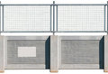 Seamless Concrete Fence Royalty Free Stock Image