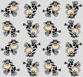 Seamless cow pattern Stock Photo