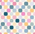 Seamless creative stylish rounded square with dots textured playful pattern