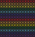 Seamless cross-stitch pattern in rainbow colors