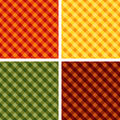 Seamless Cross-weave Gingham, 4 Harvest Hues  Royalty Free Stock Images
