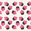 Seamless cupcake pattern.Vector cupcake Background Pattern