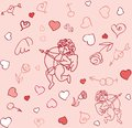 Seamless cupid pattern Stock Photography