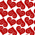 Seamless Curled Hearts Background Royalty Free Stock Photos