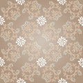 Seamless curly background like glossy beige silk Stock Image