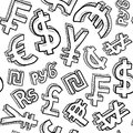 Seamless currency symbol background Royalty Free Stock Images