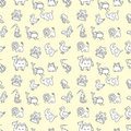 Seamless cute animals pattern Stock Image