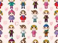 Seamless cute cartoon pattern Stock Images