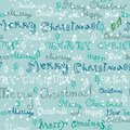Seamless cute handwritten christmas text pattern with elements Royalty Free Stock Photography