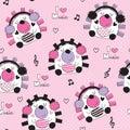 Seamless cute hedgehog pattern vector illustration Royalty Free Stock Photo