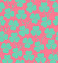 Seamless cute pattern with clover, trefoil  Endless background texture for wallpapers, packaging, textile, crafts Royalty Free Stock Photo