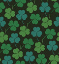Seamless cute pattern with clover trefoil endless background texture for wallpapers packaging textile crafts scrapbook Royalty Free Stock Photos
