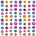 Seamless cute pattern with multi-colored concentric circles Royalty Free Stock Photo