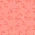 Seamless cute rose ,flower pattern vector