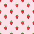 Seamless cute strawberry pattern