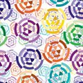 Seamless cuted circle pattern Royalty Free Stock Photo