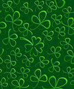 Seamless 3D green paper cut Pattern Clover for St Patrick`s Day, Shamrock wrapping paper, ornament clover foliage Royalty Free Stock Photo