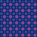 Seamless 3d pink colourful embossed flower background pattern. Royalty Free Stock Photo