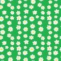 Seamless Daisies Pattern Royalty Free Stock Photo