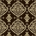 Seamless damask background elegant vintage backgrond or wallpaper Stock Images