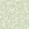 Seamless Damask background in the style of green Royalty Free Stock Photo