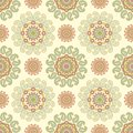 Seamless damask decor paisley Royalty Free Stock Image