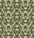 Seamless damask floral Wallpaper. Royalty Free Stock Photo