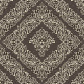Seamless damask pattern against a dark background Royalty Free Stock Images
