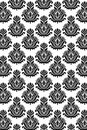 Seamless damask pattern B/W Stock Images