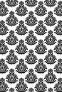 Seamless damask pattern B/W Royalty Free Stock Photo