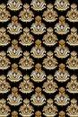 Seamless damask pattern gold Royalty Free Stock Photo