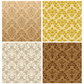 Seamless damask pattern set Stock Photos