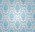 Seamless damask pattern (vector) Stock Images