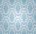 Seamless damask pattern (vector) Royalty Free Stock Photo
