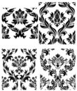 Seamless damask patterns set Royalty Free Stock Photo
