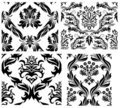 Seamless damask patterns set Stock Photos
