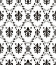 Seamless damask royal texture with fleur-de-lis Stock Image