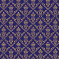 Seamless Damask Wallpaper 2 Blue Color Royalty Free Stock Photography