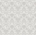 Seamless damask wallpaper design vector Stock Photography