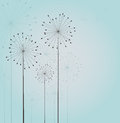 Seamless dandelions decoration with vector Stock Images