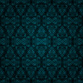 Seamless dark blue tile vintage wallpaper design Stock Photos