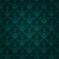 Seamless dark green vintage wallpaper design Royalty Free Stock Photography