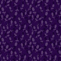 Seamless dark pattern with lilac and violet tulips. Vector illustration. Floral seamless background for dress, manufacturing, wall Royalty Free Stock Photo