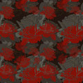 Seamless Dark Red Roses Pattern Royalty Free Stock Image