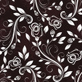 Seamless dark rose pattern floral vintage Stock Photography