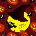 Seamless decorative background happy halloween Stock Photo