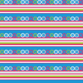 Seamless decorative background with stripes and circles Stock Photo