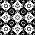 Seamless decorative checked pattern. Royalty Free Stock Images
